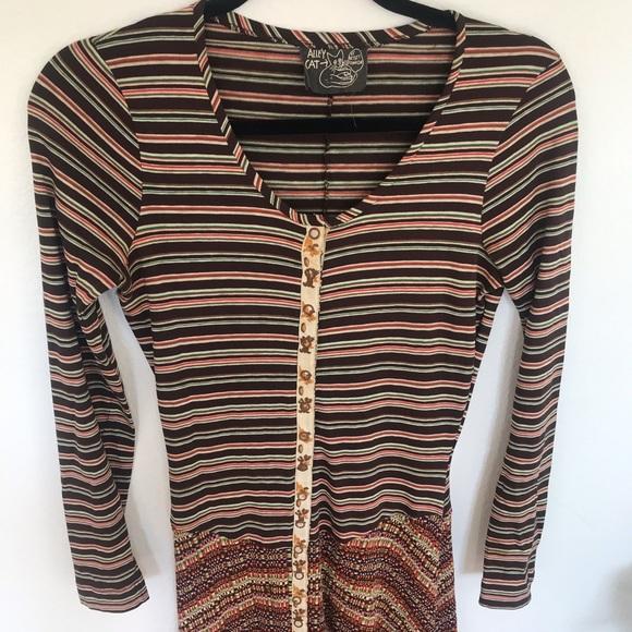 Betsey Johnson Dresses & Skirts - Vintage Betsey Johnson Alley Cat Stripe Maxi Dress